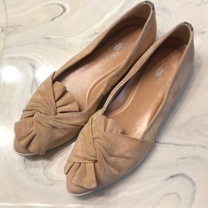 Dr Scholl's Original Collection Tan Pink Bow Flats
